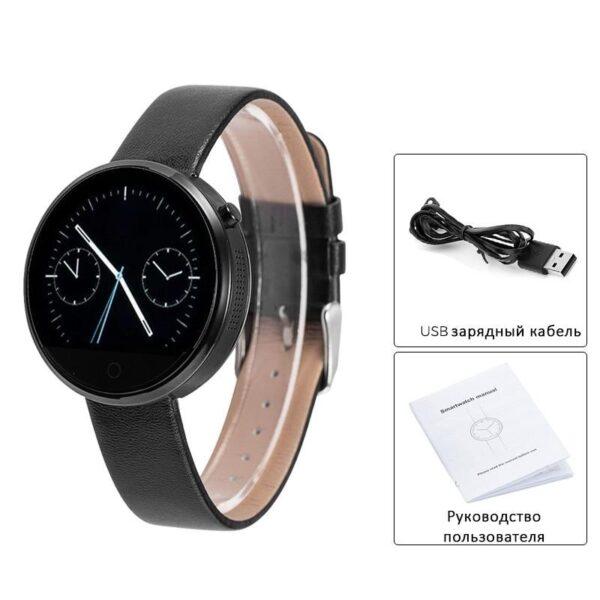 38008 - Спортивные смарт-часы DM360: Bluetooth 4.0, шагомер, пульсометр, звонки+смс, IP53, поддержка Android/ iOS, 320 мАч