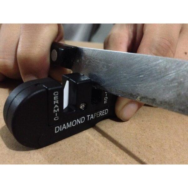 38010 - Походная EDC точилка для ножей (керамика+вольфрам) с алмазным мусатом