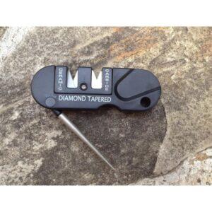 Походная EDC точилка для ножей (керамика+вольфрам) с алмазным мусатом