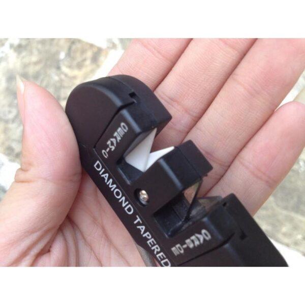 38014 - Походная EDC точилка для ножей (керамика+вольфрам) с алмазным мусатом
