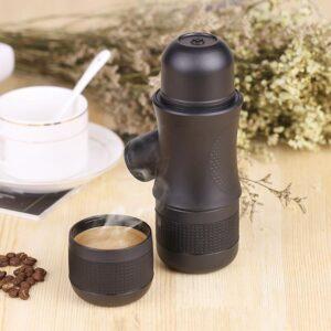 Ручная портативная кофе-машина EspressoMaker 70 мл: ручной насос 8 Бар, не нужен источник питания, выбор крепости кофе