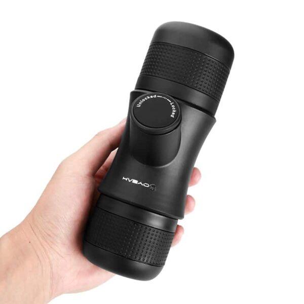 38022 - Ручная портативная кофе-машина EspressoMaker 70 мл: ручной насос 8 Бар, не нужен источник питания, выбор крепости кофе