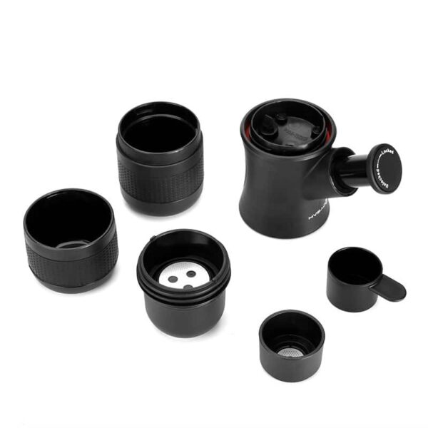 38026 - Ручная портативная кофе-машина EspressoMaker 70 мл: ручной насос 8 Бар, не нужен источник питания, выбор крепости кофе