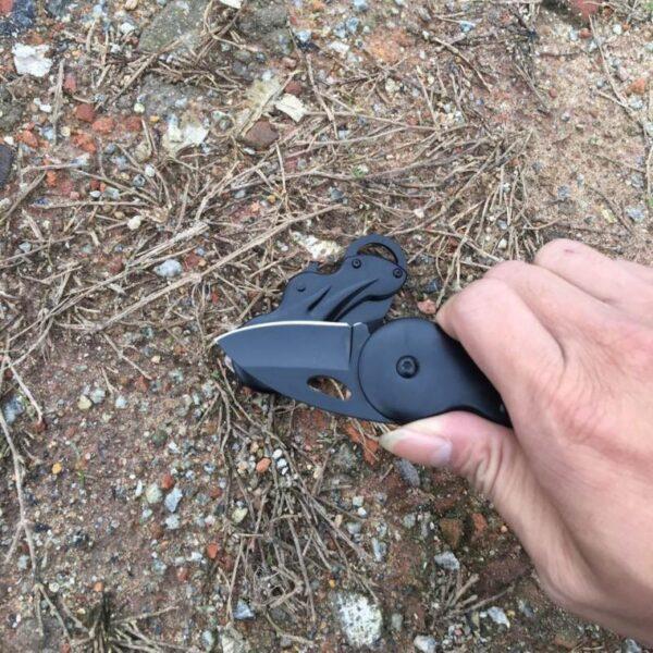38031 - Складной маленький нож Buck B27 для охоты, рыбалки, самообороны, выживания: сталь 440, 57HRC, клинок 5 см
