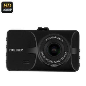 FHD Автомобильный видеорегистратор c дисплеем 3-дюйма: 1080p, 12 Мп, 140° обзор, G-сенсор, датчик движения, циклическая запись