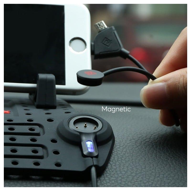 Подарочный набор для автомобилиста: зарядное-держатель для смартфона + антибликовый козырек HD Visor2.0 + Брелок-коробка передач 213855
