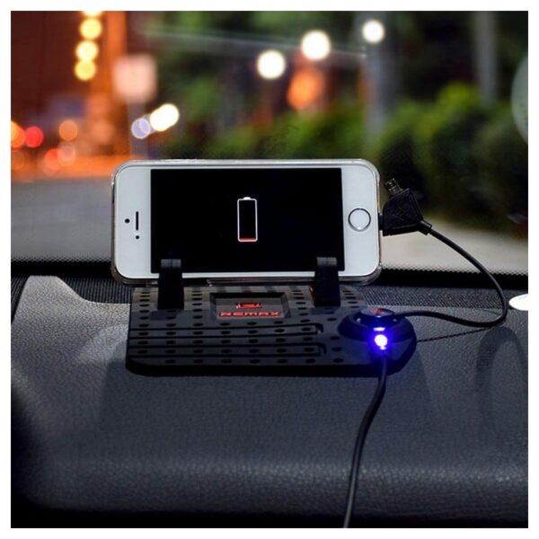 38102 - Подарочный набор для автомобилиста: зарядное-держатель для смартфона + антибликовый козырек HD Visor2.0 + Брелок-коробка передач