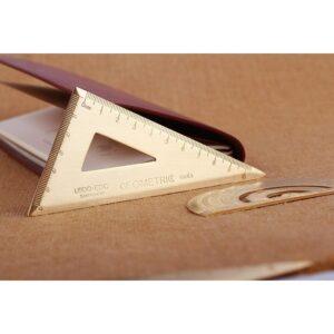 Металлическая латунная линейка-треугольник