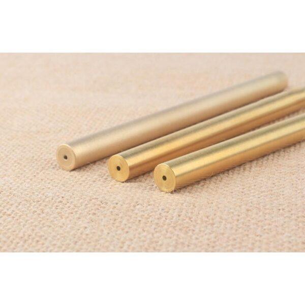 38239 - Металлическая латунная шариковая ручка: блестящая, матовая, стержень и чехол в комплекте