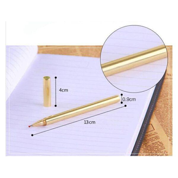 38240 - Металлическая латунная шариковая ручка: блестящая, матовая, стержень и чехол в комплекте