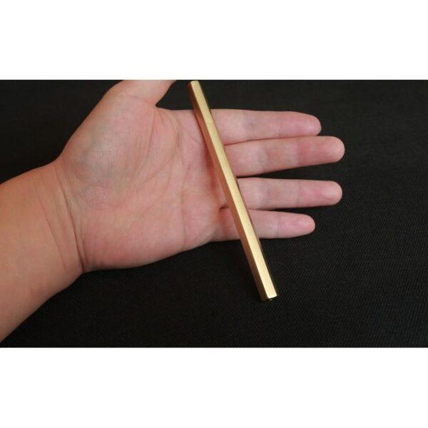 38270 - Металлическая латунная шариковая ручка шестигранной формы: матовая полировка, стержень и чехол в комплекте