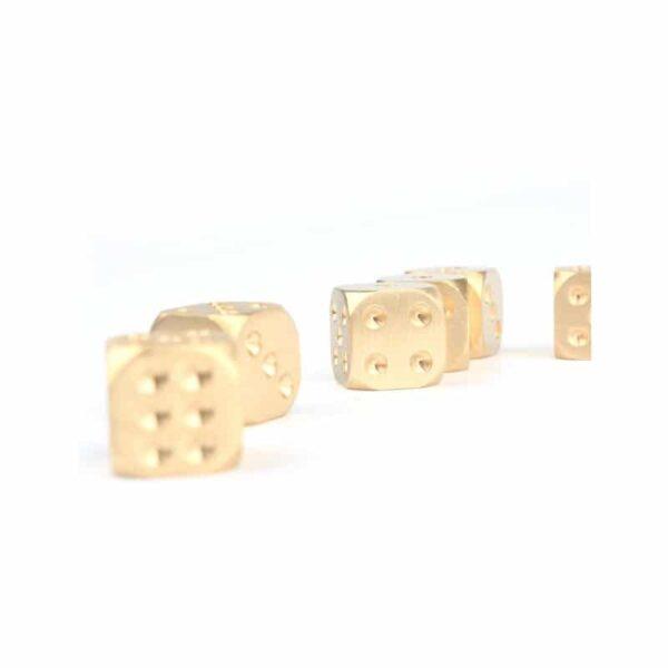 38303 - Металлические латунные игральные кости (кубики) 2 шт.