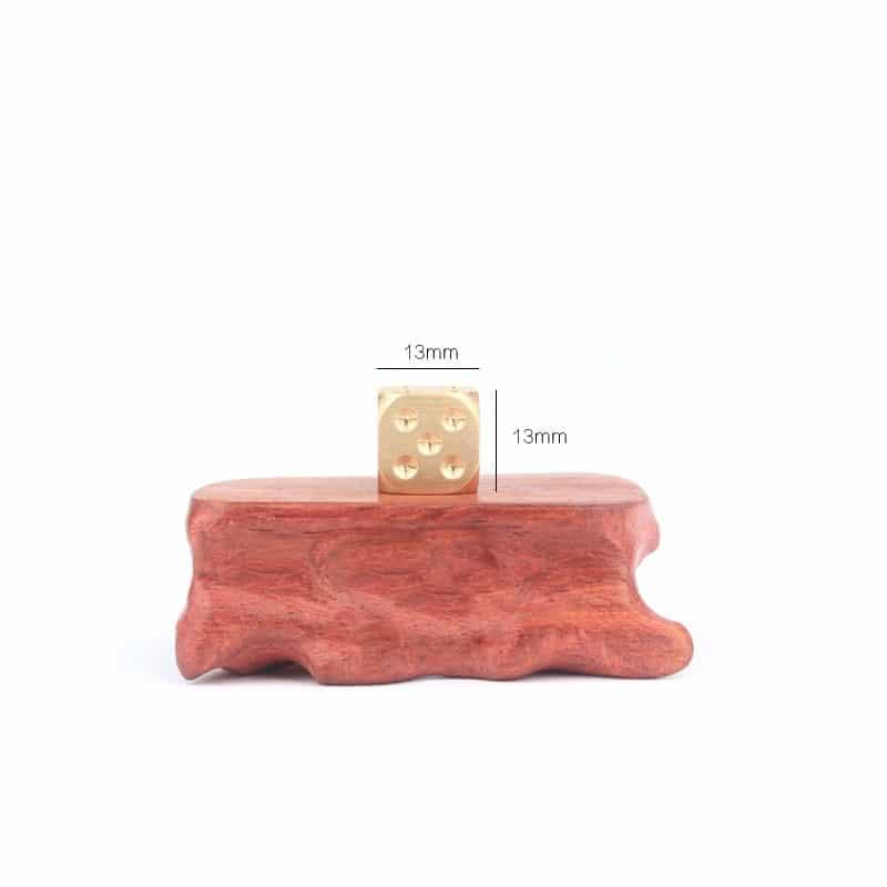 38304 thickbox default - Металлические латунные игральные кости (кубики) 2 шт.