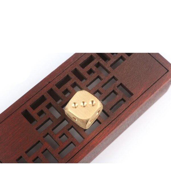 38305 - Металлические латунные игральные кости (кубики) 2 шт.