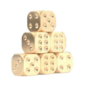 Металлические латунные игральные кости (кубики) 2 шт.