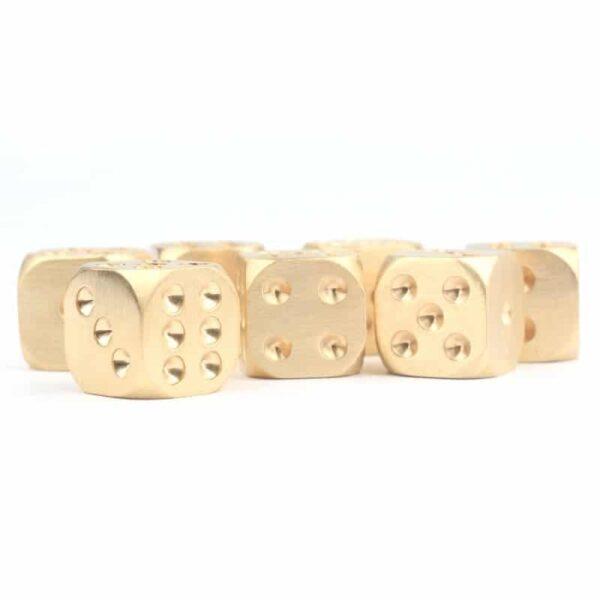38308 - Металлические латунные игральные кости (кубики) 2 шт.
