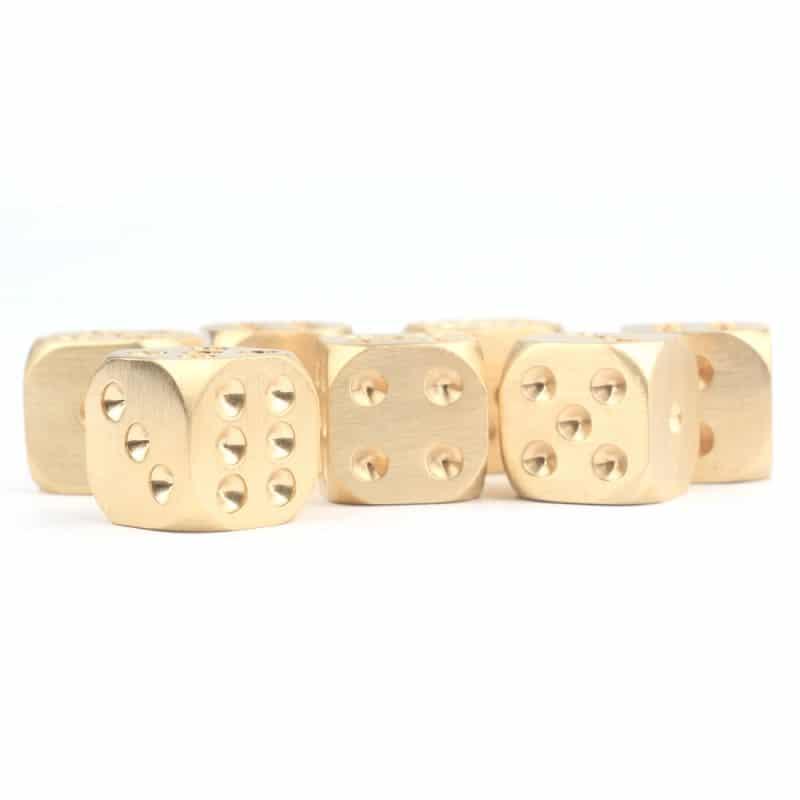 Металлические латунные игральные кости (кубики) 2 шт. 214033