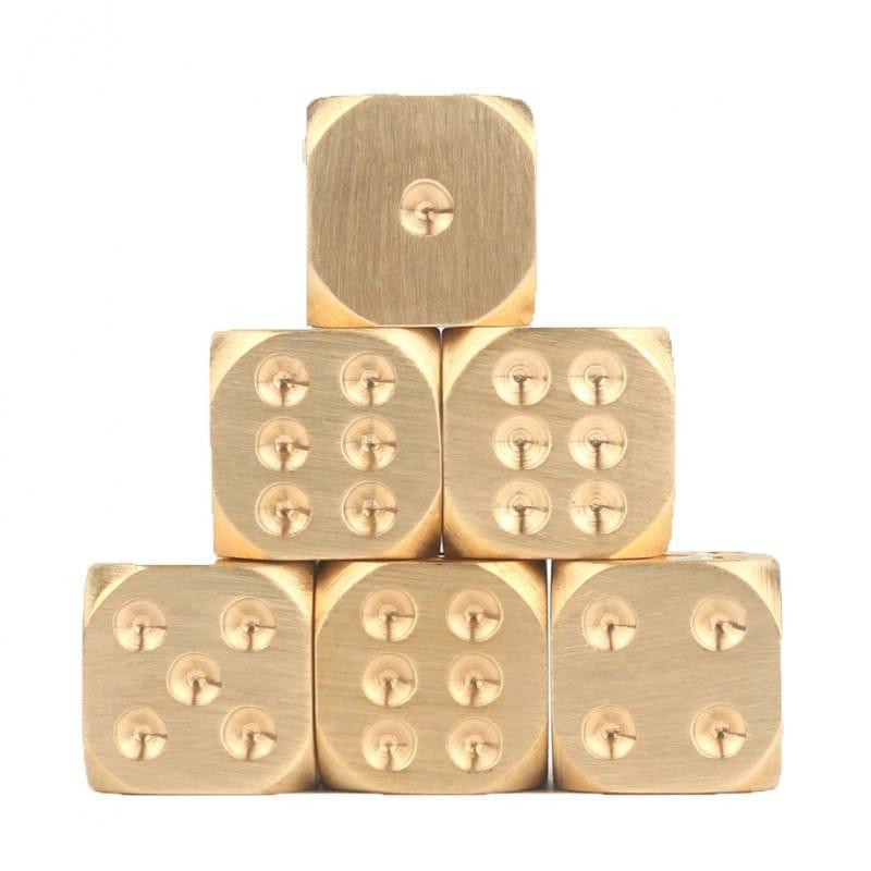 38309 thickbox default - Металлические латунные игральные кости (кубики) 2 шт.