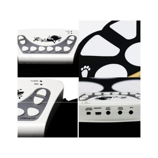 38343 - Электронная ударная midi-установка Konix W758 - 5 барабанов, 4 тарелки, USB, MP3