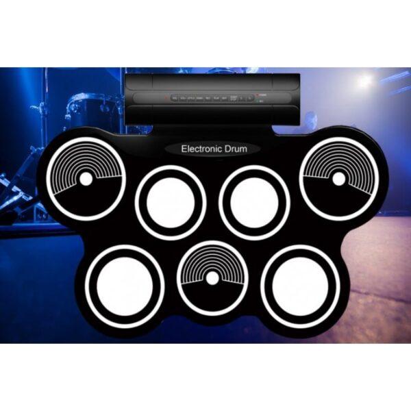 38359 - Электронная портативная барабанная установка Konix MD759: стерео-динамики, педали, mp3-запись, поддержка игр и приложения