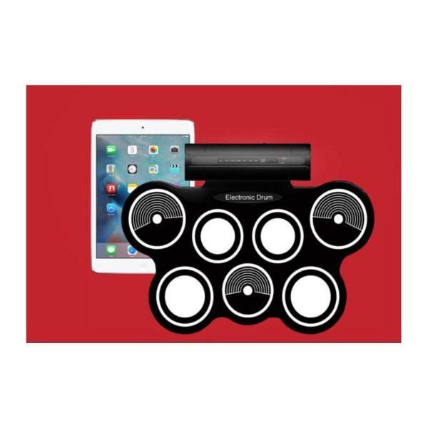 38362 - Электронная портативная барабанная установка Konix MD759: стерео-динамики, педали, mp3-запись, поддержка игр и приложения