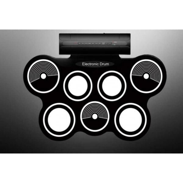 38367 - Электронная портативная барабанная установка Konix MD759: стерео-динамики, педали, mp3-запись, поддержка игр и приложения