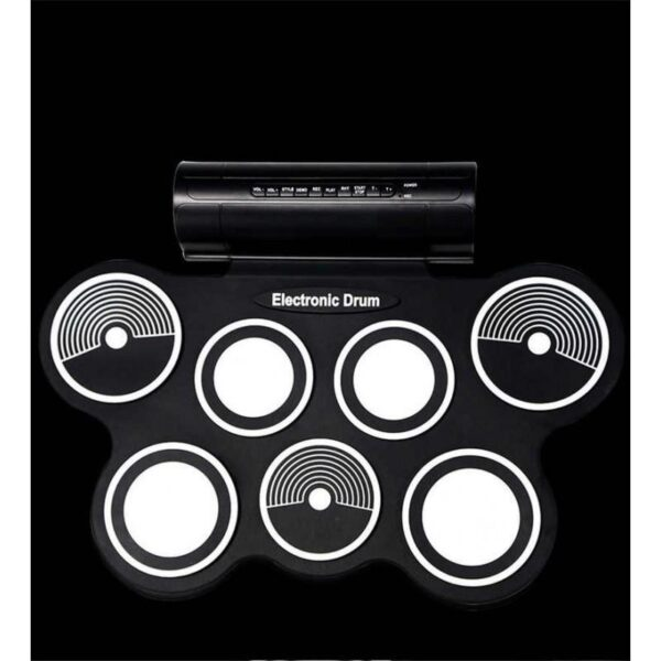 38370 - Электронная портативная барабанная установка Konix MD759: стерео-динамики, педали, mp3-запись, поддержка игр и приложения