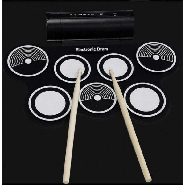 38372 - Электронная портативная барабанная установка Konix MD759: стерео-динамики, педали, mp3-запись, поддержка игр и приложения