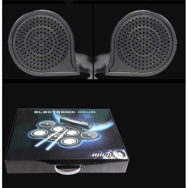 38373 - Электронная портативная барабанная установка Konix MD759: стерео-динамики, педали, mp3-запись, поддержка игр и приложения
