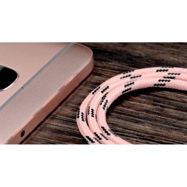 38392 - Нейлоновый кабель-адаптер Fokoos USB Type C к USB: длина 0,25/ 1,5/ 2 м, 5 цветов