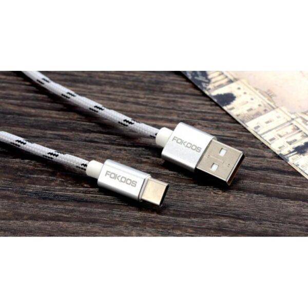 38393 - Нейлоновый кабель-адаптер Fokoos USB Type C к USB: длина 0,25/ 1,5/ 2 м, 5 цветов