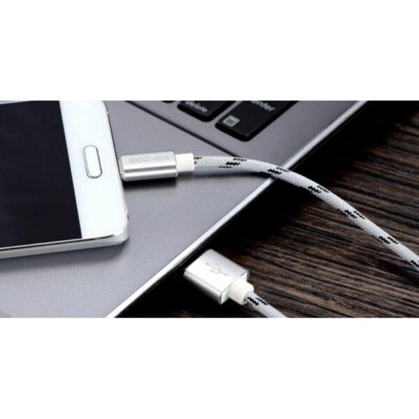 38394 - Нейлоновый кабель-адаптер Fokoos USB Type C к USB: длина 0,25/ 1,5/ 2 м, 5 цветов