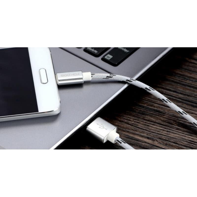 Нейлоновый кабель-адаптер Fokoos USB Type C к USB: длина 0,25/ 1,5/ 2 м, 5 цветов 214106