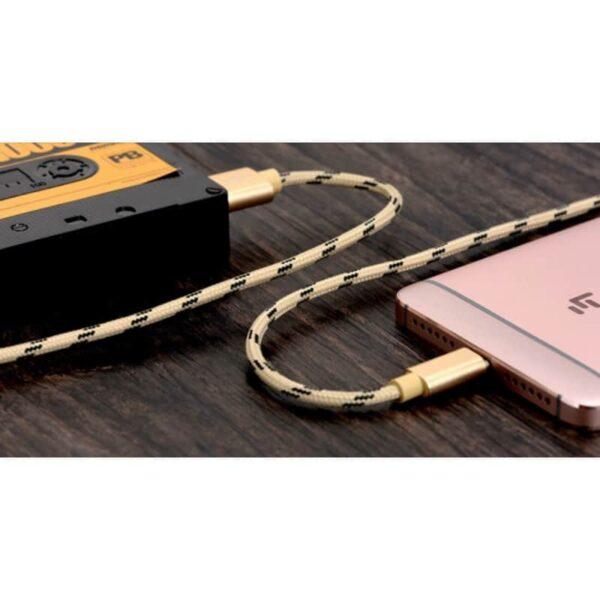 38397 - Нейлоновый кабель-адаптер Fokoos USB Type C к USB: длина 0,25/ 1,5/ 2 м, 5 цветов