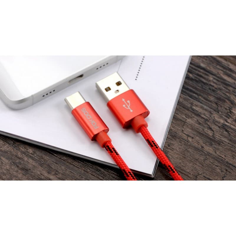Нейлоновый кабель-адаптер Fokoos USB Type C к USB: длина 0,25/ 1,5/ 2 м, 5 цветов 214110