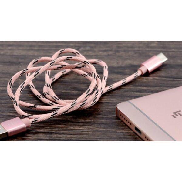 38399 - Нейлоновый кабель-адаптер Fokoos USB Type C к USB: длина 0,25/ 1,5/ 2 м, 5 цветов