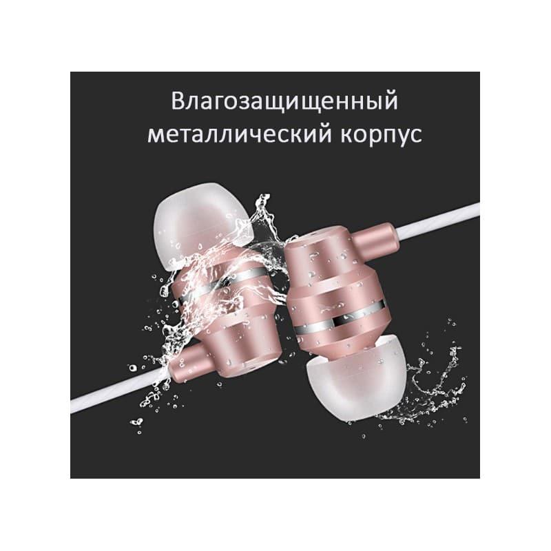 Влагозащищенные наушники для смартфона Fokoos J1 (3,5 мм штекер) - Розовый