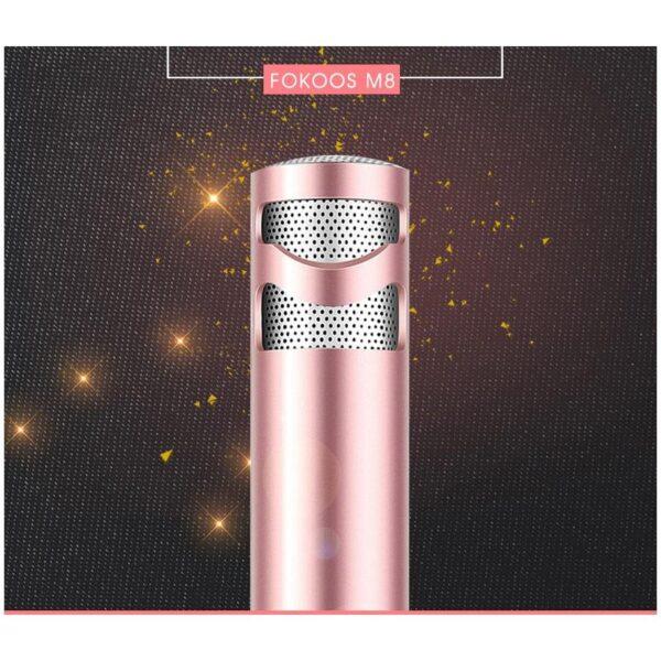 38524 - Караоке-микрофон Fokoos M8 для смартфона с аудиокабелем 3,5 мм на 2 выхода + кольцо-держатель для смартфона