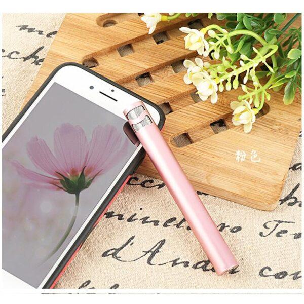 38530 - Караоке-микрофон Fokoos M8 для смартфона с аудиокабелем 3,5 мм на 2 выхода + кольцо-держатель для смартфона