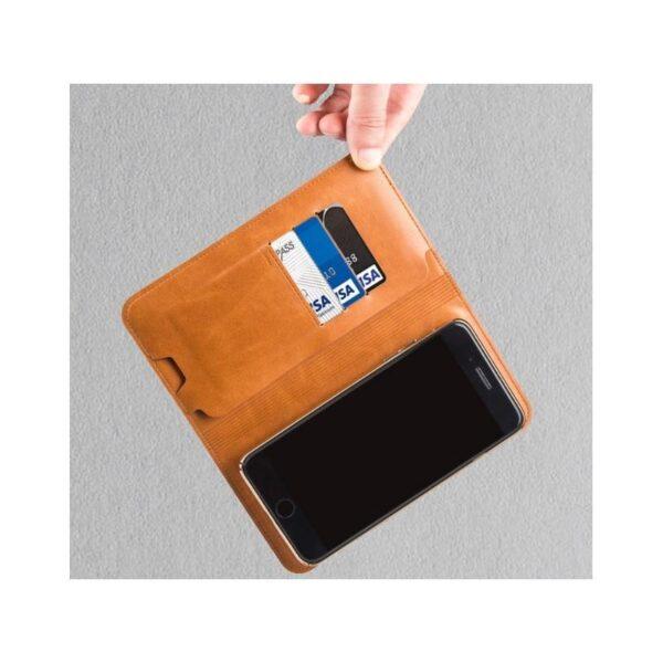 38573 - Карманный Power Bank-чехол ZHUSE для смартфона (6800 мАч): Micro USB с переходниками для USB Type-C и Ligthning разъемов