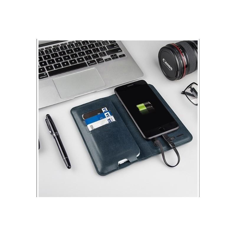 Карманный Power Bank-чехол ZHUSE для смартфона (6800 мАч): Micro USB с переходниками для USB Type-C и Ligthning разъемов 214255