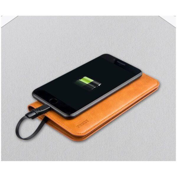 38579 - Карманный Power Bank-чехол ZHUSE для смартфона (6800 мАч): Micro USB с переходниками для USB Type-C и Ligthning разъемов