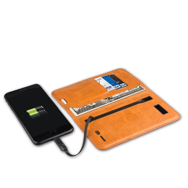38580 - Карманный Power Bank-чехол ZHUSE для смартфона (6800 мАч): Micro USB с переходниками для USB Type-C и Ligthning разъемов