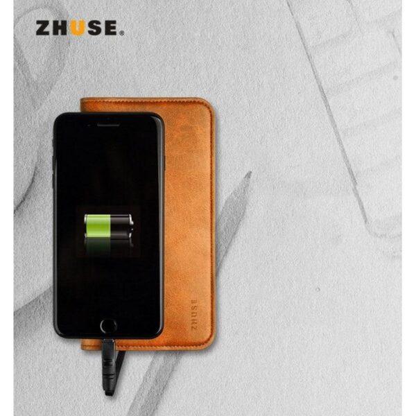 38582 - Карманный Power Bank-чехол ZHUSE для смартфона (6800 мАч): Micro USB с переходниками для USB Type-C и Ligthning разъемов