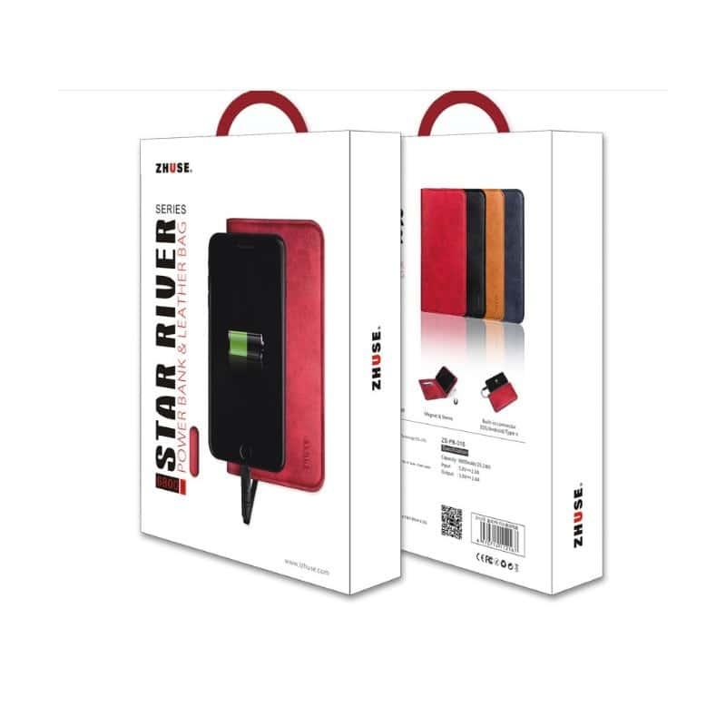 Карманный Power Bank-чехол ZHUSE для смартфона (6800 мАч): Micro USB с переходниками для USB Type-C и Ligthning разъемов 214261