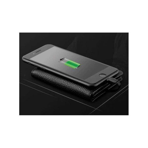 38631 - Power Bank-портмоне ZHUSE 4000 мАч: Micro USB-разъем + Lightning-порт (Apple), PU-кожа, отделения для визиток