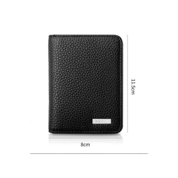38638 - Power Bank-портмоне ZHUSE 4000 мАч: Micro USB-разъем + Lightning-порт (Apple), PU-кожа, отделения для визиток