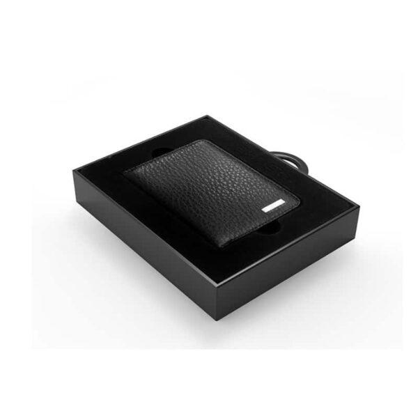38647 - Power Bank-портмоне ZHUSE 4000 мАч: Micro USB-разъем + Lightning-порт (Apple), PU-кожа, отделения для визиток