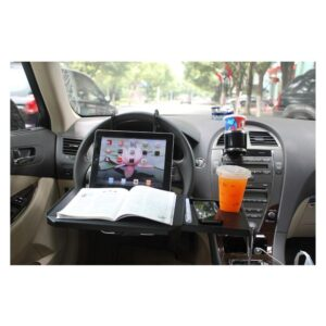 Автомобильный раскладной столик для руля, сиденья автомобиля: углубление для планшета, выдвижная столешница для мыши