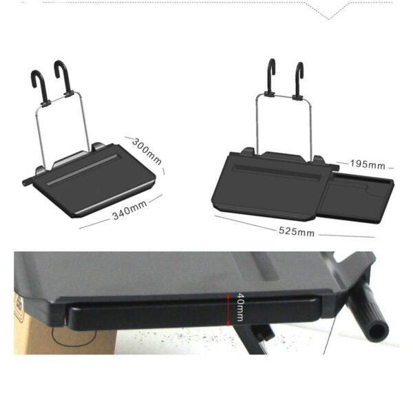 38661 - Автомобильный раскладной столик для руля, сиденья автомобиля: углубление для планшета, выдвижная столешница для мыши